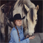 Student, Magda Arbes, and her horse Blueberry