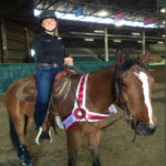Alumni, Taylor Randall and her horse, Guapo