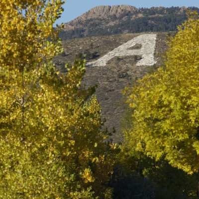 "A view of the ""A"" and Horsetooth Rock"