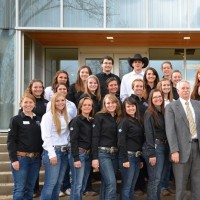 Equine sciences stewards stand with Dr. Pond