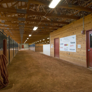Inside view of the Legends of Ranching Barn