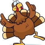 Dancing cartoon turkey