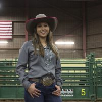 Farris posing in the Picket Arena