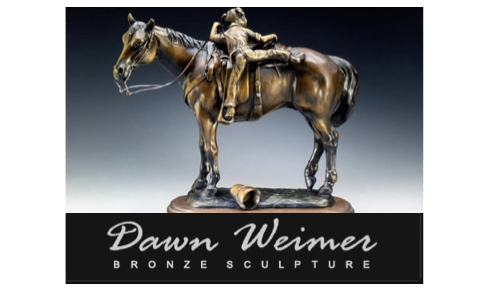 Bronze Sculptor horse and girl